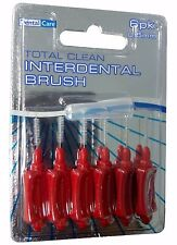 2 x 6 Pack DENTAL CARE RED 0.5mm Interdental Brush PREVENT GUM Decay New
