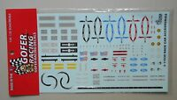 RACE CAR ACCESSORIES 1:24 1:25 GOFER RACING DECALS CAR MODEL ACCESSORY 11039