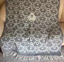 """Wool Plaid, Bedspread """" Sheep """", Sofa Blanket, Woolen Blanket"""
