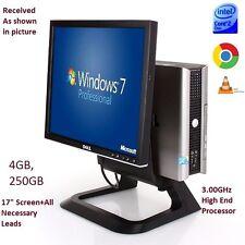 Fasy Dell All In One PC Computer 745/755/760, Core 2 Duo,3.00GHz,4GB,320GB,WiFi