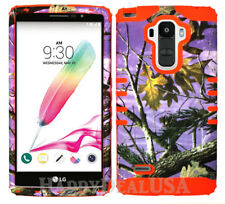 KoolKase Hybrid Silicone Cover Case for LG G Stylo LS770 - Camo Mossy Purple