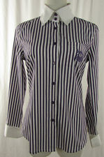 CHRISTIAN BERG Bluse Gr. DE 36 lila weiß Blouse Blusa Hemdbluse Top Baumwolle