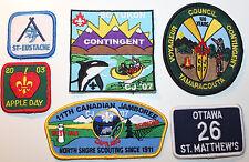 6 Boy Scouts Patches Capilano BC Canada St-Eustache Ottawa Tamaracouta Yukon