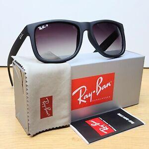 Ray-Ban Justin Polarized Wayfarer Grey Gradient Sunglasses RB4165 622/T3 55mm