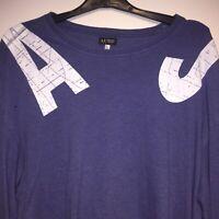 Armani Jeans Designer Top Long Sleeve T-Shirt Loose Fit Size Large