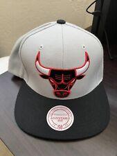 Chicago Bulls Mitchell & Ness snapback cap hardwood classic hat gray NBA