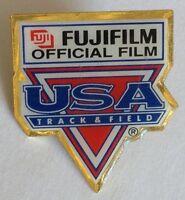 USA Track And Field FujiFilm Advertising Pin Badge Rare Authentic (E4)