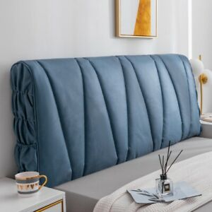 Elastic Headboard Slipcover Bedside Protector Dust Bed Head Cover Soft Leather