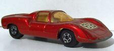 """PORSCHE 910 rot MATCHBOX Series No. 68 SUPERFAST (C) 1970 Startnummer """"68"""""""
