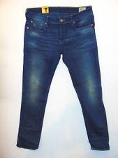 G-Star Raw 3301 Low Tapered Medium Aged W34 L32  Mens Blue Firro Denim Jeans