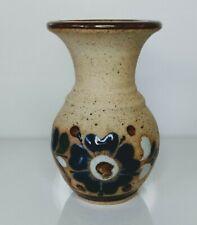 Tonala mexican pottery vase signed C O