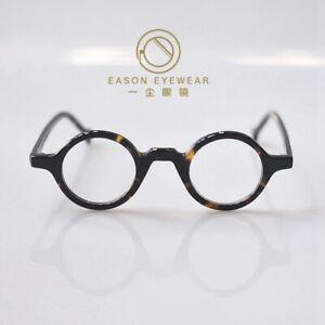 Round Eyeglasses Mens Retro Japan tortoise acetate Glasses RX Clear eyewear