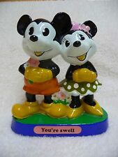 "VTG 1970s DISNEY Mickey and Minnie Mouse ""You're Swell"", Determined& WDP"