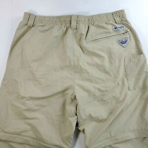 Columbia Men's Medium Performance Fishing Gear Zip Off Pants Shorts PFG 34x33