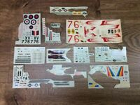 Vintage Model Decals Airplanes Cars Military Miscelanneous Lot Random Decals A7