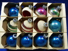 """Vintage Shiny Brite & Other Glass Ornaments Ball Frosted 1 3/4"""" diameter"""