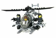 AH-6 Little Bird with 3 Rangers Army helicopter made w/ real LEGO® bricks