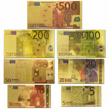7 PCS of gold plated euros