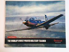 Beechcraft Defense T-6C Texan II Aircraft Product Booklet Catalog NEW 2016