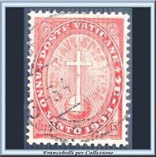 1933 Vaticano Anno Santo 75 + 15 cent. arancio n. 16 Usato Pontificato Pio XI