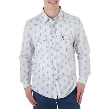 WRANGLER Mens SAW TOOTH LTD Western Shirt - Print - 2XL - MV1238M
