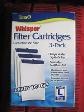 Tetra Whisper L Large Aquarium Fish Tank Replacement Filter Cartridge 3 pack