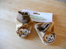 INFANT BOOTIES ONE SIZE Brown Dogs Dog Puppy NEW WITH TAGS CUTE