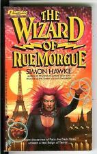 WIZARD OF THE RUE MORGUE by Simon Hawke, rare US Questar horror pulp vintage pb
