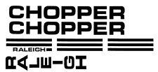 RALEIGH CHOPPER MK1 DECALS/ STICKERS RETRO BIKE BLACK WHITE RED