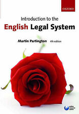 Acceptable, Introduction to the English Legal System, Partington, Martin, Book