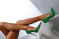 1969 Pumps 13 cm Sexy green spitz pointy fetish sky high heels 43 42 nib