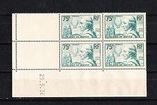 timbre France bloc de 4 coin daté  Pilatres de Rozier  num: 313  **