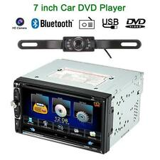 "7"" Double 2 Din Car Stereo CD DVD Player Bluetooth Radio TV Aux In Camera V8Y4"