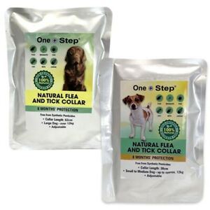 Natural Flea & Tick Dog Collars   8 Months Protection   Eco-Friendly   Sml - Lrg