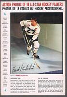 1966-67 General Mills Hockey Action Photo Full Back Box Frank Mahovlich