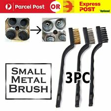 3x Stainless Steel Small Brush Cleaning Brushes Wire Spark Wheel Rust Scrub 17cm