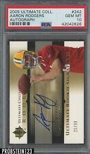 2005 UD Ultimate #242 Aaron Rodgers Packers RC Rookie AUTO /99 PSA 10 GEM MINT
