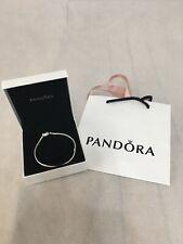 Genuine Pandora Moments Silver Heart Clasp Bracelet 20cm Snake 590719-20 New
