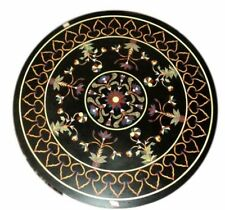 """36"""" Pietra Dura Inlaid Handcrafted Marble Center Table Top Home Decor"""