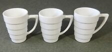 3 Guggenheim By Krups Frank LLoyd Wright Collection Coffee Tea Cups Mugs EUC
