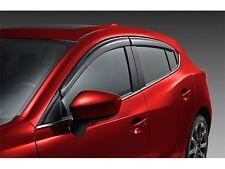 Genuine OEM 2014-2018 Mazda3 Side Window Deflectors (SET OF 4)