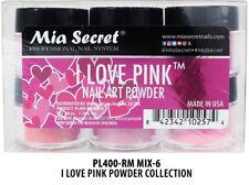 Mia Secret Nail Art Acrylic Professional Powder 6 Colors Set - I LOVER PINK