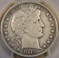 1915 Barber Half Dollar PCGS VF30