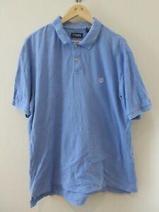 Chaps by Ralph Lauren Mens Polo Shirt Size XL Regular Fit Light Blue Collared