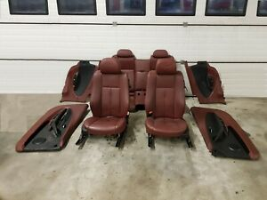 ✅✅GENUINE BMW 6 SERIES E63 LEATHER RED SEATS DEFECTIV