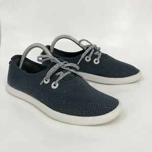 Allbirds Tree Skippers Mens 8 40-41 Boat Shoes Navy Blue White Sole