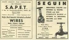 1953 Seguin Industrial Valves Head Office Lyon Ad