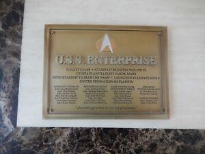 USS Enterprise NCC-1701-D Commissioning Plaque Replica