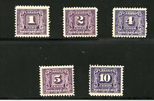 Canada #J6-J10 (CA342) Comp 1930-2 Postage Due 2nd issue, M,LH,FVF,CV$270.00