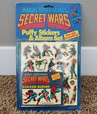 1984 Marvel Super Heroes Secret Wars Puffy Stickers & Album Set Sealed